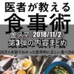医者が教える正しい食べ方 金スマ第3弾内容|牧田善二先生のダイエット法